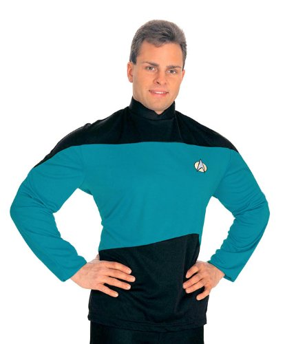 Star Trek Next Generation Costume Shirt (Star Trek The Next Generation Teal Shirt XL)