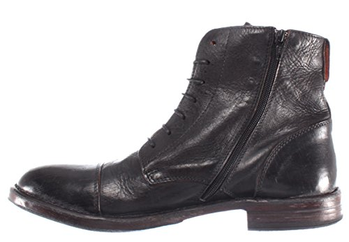 Noir Nouveau Bottes MOMA Cuir Pelle Italy Homme Vintage R2 Chaussures Made 66702 OwWZ0qwa
