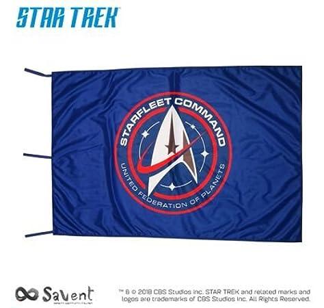 Savent Star Trek Bandera oficial CBS – Discovery Starfleet Command Blue: Amazon.es: Jardín