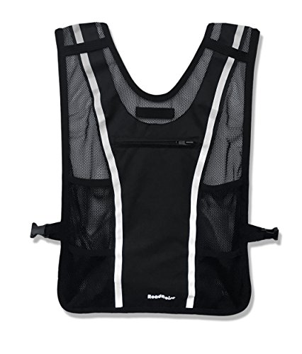Roadnoise Long Haul Vest Running and Cycling Vest with speakers. Safer running and riding with music. (Black, X-Small/Small) by Roadnoise (Image #2)