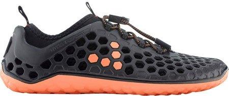 Vivobarefoot Women's Ultra Running Shoe,Black/Salmon,39 EU/8.5 M US