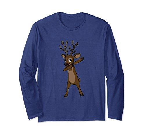 Unisex Funny Elk T Shirt Christmas Gift Elk Dabbing Dab Dance Small Navy - Dancing Elk