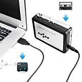 Cassette Player, OfficeLead Cassette Player Tape to MP3 Converter Retro Walkman Auto Reverse Portable Audio Tape Player with Earphones, No Need Computer