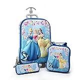 A Set of 3 Pieces, a Suitcase for Girls with Disney Princesses, Sofia