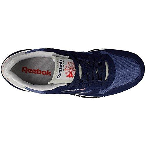 Reebok Classic Sport Clean, Zapatillas de Deporte para Niños Azul / Blanco / Gris / Rojo (Cllg Navy / Mdnght Blue / White / Tingry / Pwred)