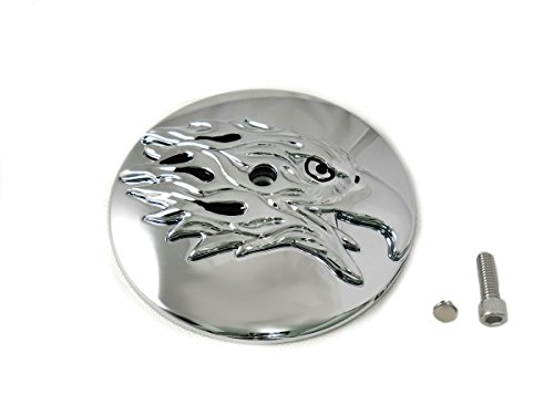 V-Twin 34-1431 - Round Eagle Air Cleaner Cover Insert ()