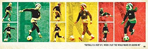 - Bob Marley Football 12x36 Poster MCPP60009