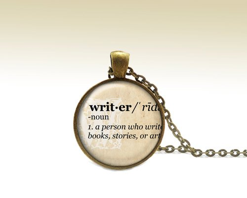 Writer Pendant, Writer Necklace, Dictonary Jewelry, Dictionary Necklace, Writer Word ,Defined, Gift for a writer
