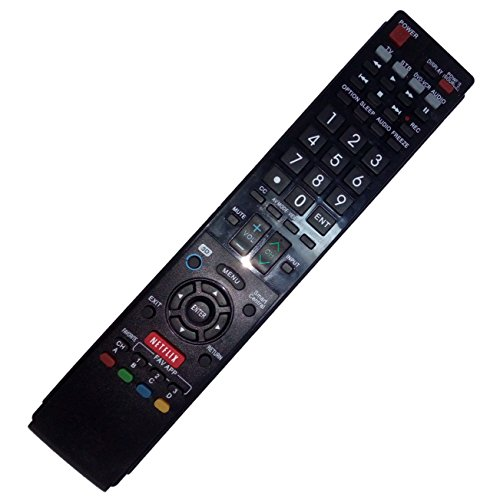 Replaced Remote Control Compatible for Sharp LC-70C8470U LC-70C6400U LC60LE633U LC60LE835 LC-80LE632U AQUOS LED LCD HD TV with NETFLIX 3D Button -  JustFine