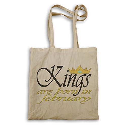 Könige sind geboren im Februar Funny Novelty Boss Tragetasche c368r