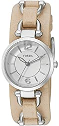 Fossil Women's ES3854 Georgia Artisan Three-Hand Leather Watch - Light Brown
