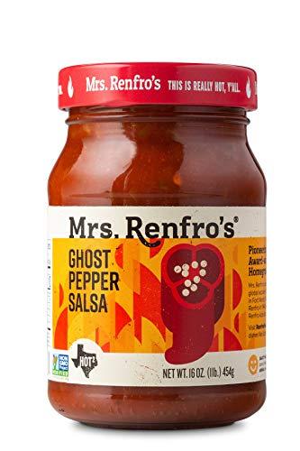 Mrs. Renfro's Ghost Pepper Salsa, 16 oz (6 Pack)