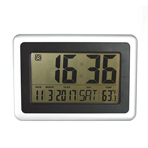 "HIPPIH 10"" Digital Desktop Alarm Clock with Temperature,Date and Day by HIPPIH"