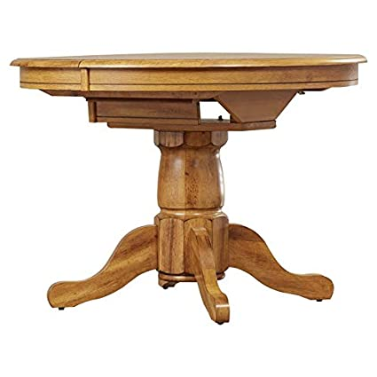 Image Unavailable. Image Not Available For. Color: Wood Pedestal Base  Dining Table   Round ...