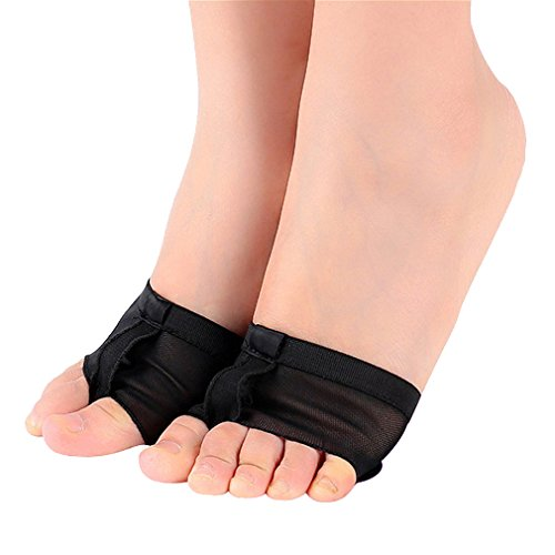 Upriver Gallery Ballet Belly Dance Foot Thong Dance Paw Zapatos Half Sole Black
