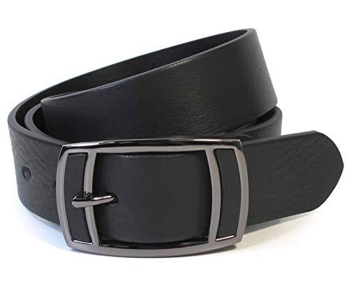 (CM1-111) Men Black Belt 100% Real Leather Size 28,30,32,34,36