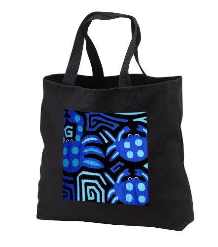 Danita Delimont – Textiles – Panama, Kuna Indian handmade textile mola – SA15 CMI0205 – Cindy Miller Hopkins – Tote Bags – Black Tote Bag 14w x 14h x …