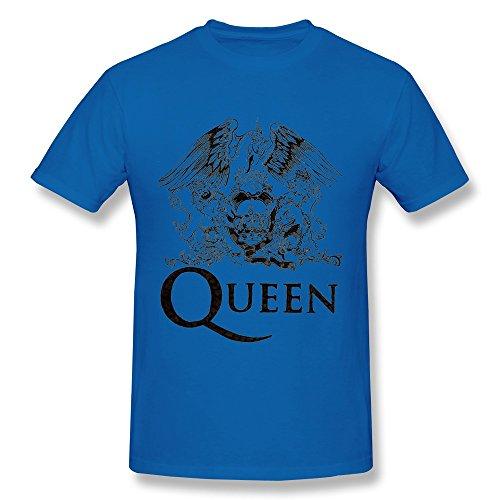 KAITIAN Queen Mercury Bohemian Rhapsody Men's Cotton T-shirt RoyalBlue Size XXL