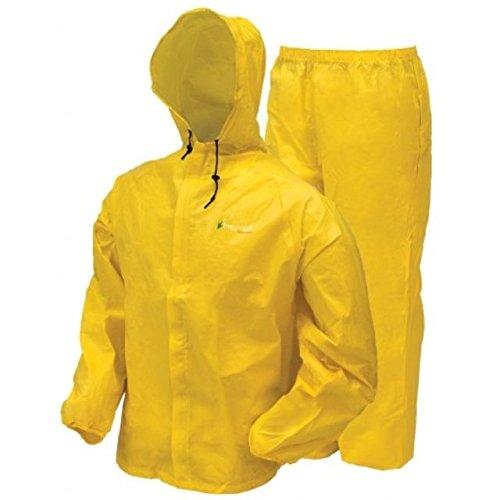 frogg toggs Men's Waterproof Ultra-Lite2 Suit, Bright Yellow, 2XL
