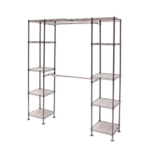 Seville Classics 72 in. Bronze Expandable Closet Organizer by Seville Classics