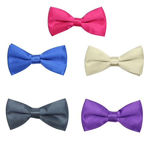 jaifei-boys-stain-solid-color-tuxedo-adjustable-pre-tied-bow-tie-5pc-mixed-lot-set-5