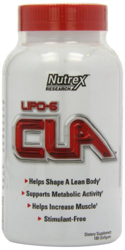 Nutrex Lipo 6 CLA Softgels, 180 Count