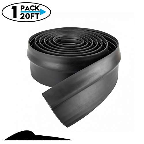 Weatherproof Universal Garage Door Bottom Threshold Seal Strip DIY Weather Stripping Replacement,Not Include Sealant/Adhesive (20Ft, ()