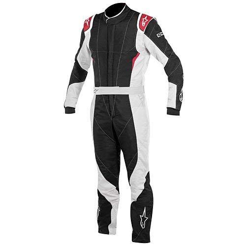 Alpinestars GP PRO Suit (Black/Steel Gray/Red, Size 54)