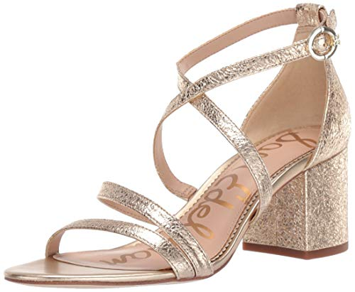(Sam Edelman Women's Stacie Sandal, Molten Gold Metallic Leather, 8 M US)