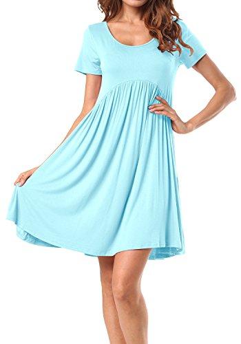 LAINAB Womens Summer Sleeve Pleated