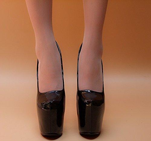 tacon negro 1 Zapatos super talon 1379 XiaoGao 18 de cm alto Antique w1qgR0g