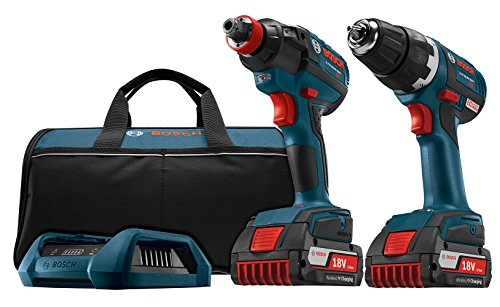 Cheap Bosch CLPK233WC-02 18-volt Wireless Charging 2-Tool Combo Kit with 1/2-Inch Brushless Drill/Driver, Impact Driver, 2 Batteries, Wireless Charger and Bag