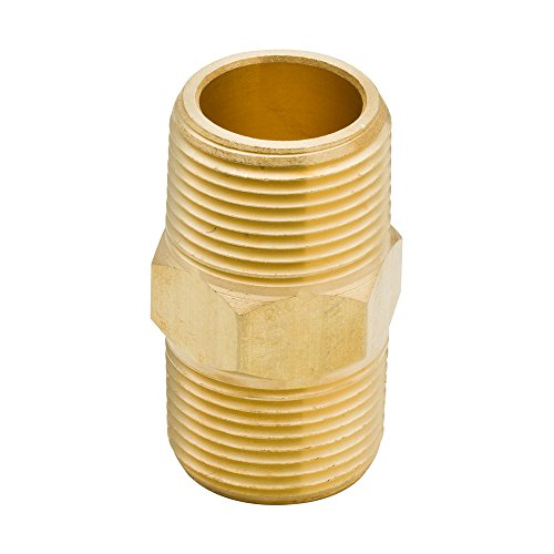 Brass Repair Mender Set (Legines Brass Pipe Fitting, Reducing Reducer Hex Nipple, 1/4