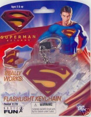 Amazon.com: Superman Linterna Llavero: Sports & Outdoors