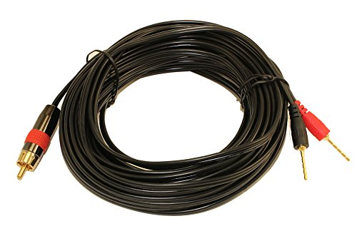 MyCableMart 35ft 1 Wire SubWoofer 18AWG (1 RCA to 2 Pos/Neg Speaker Connects) by My Cable Mart