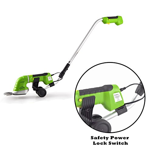 Serenelife cordless pole grass cutter shears electric for Hand held garden shears
