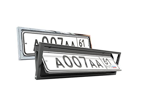 Retractable License Plate - License plate frame Flipper USA type 1 PC in Set