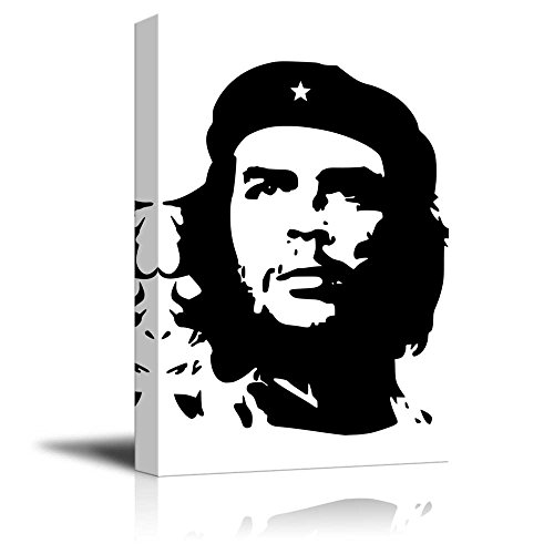 Portrait of Che Guevara in Black and White Wall Decor ation