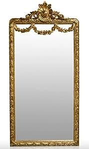 Casa-Padrino Espejo Barroco Dorado 120 x H. 242 cm - Espejo de Pared Barroco