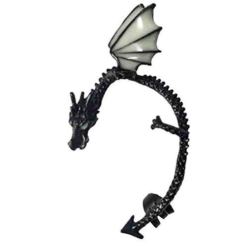 Glowing Dragon Ear Cuffs for non pierced ears Luminous Clip Earrings Glow in the Dark Gifts for Men Women (Dragon Cuff Earrings)