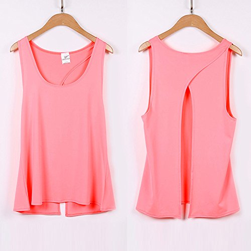 09a75192f7b99c Sexy Knotted Open Back Tank Tops Women Cami Tops Sleeveless Running Fitness  T-Shirts