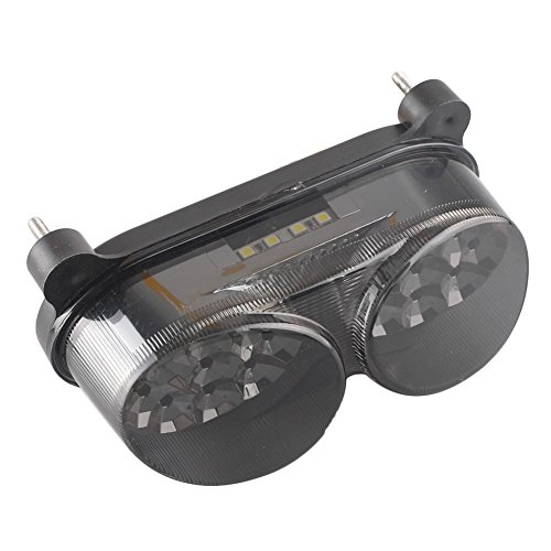 Newsmarts Motorbike LED Tail Light Turn Signal Integrated Brake Taillight for Kawasaki Ninja ZX9R 1998 1999 2000 2001 2002 2003