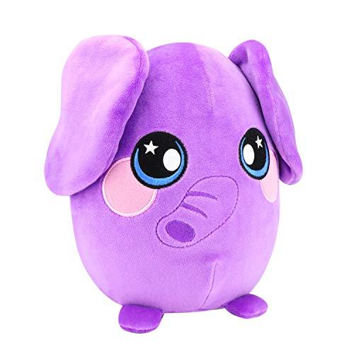 Squeezamals, 8 Plush, Elephant - Super-Squishy Foam Stuffed Animal! Squishy, Squeezable, Cute, Soft, Adorable!