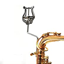 Alto Saxophone Sheet Music Clip Stand Stainless Steel Sax Lyre Clamp-On Holder