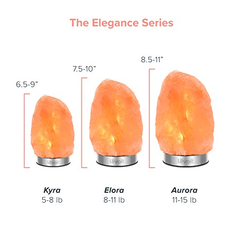 Levoit Elora Large Salt Lamp Pink Crystal Hand Carved Himalayan Salt Lamps with 18/8 Stainless Steel Base, Dimmable Touch Switch, Luxury Gift Box(UL-Listed, 2 Extra Original Bulbs Included) by LEVOIT (Image #7)