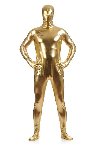 WOLF UNITARD Men's Shiny Metallic Zentai Full Body
