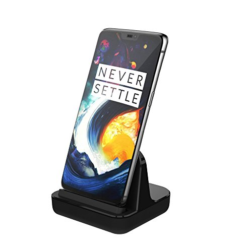 USB C Charge & Sync Desktop Dock Stand by CharmTek, Support Dash Charging for OnePlus 6/5T/5/3T/3,Rapid and Fast Charging for Nexus 6P/5X, Huawei Mate 8/9 (Case Compatible,Cable and Plug not included)