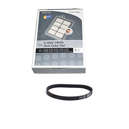 TVP Vacuum Cleaner 1 Filter with 1 Geared Belt for Models EL8502D, EL8502A, EL8501F, EL8502, EL8502A/B, EL8502D by TVP