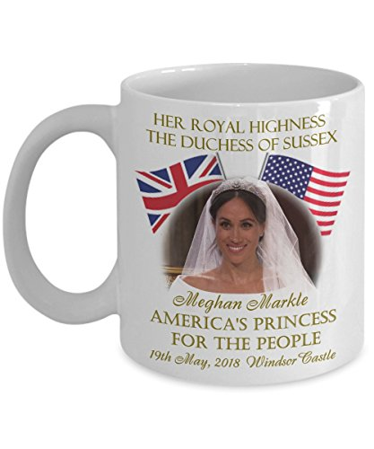 Prince Harry And Meghan America's Princess For The People Commemorative Coffee Mug Duchess of Sussex