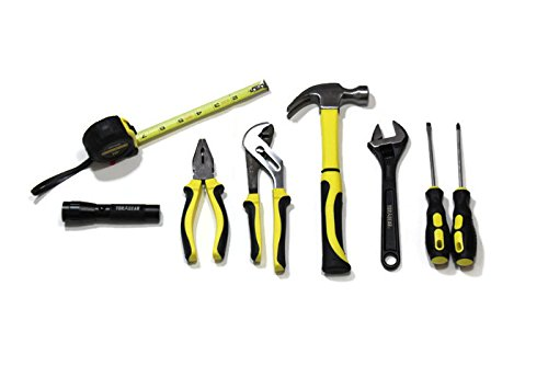 Child's 9 Piece Tool Set - Real Kid's Tools Sized Just For Them! Screwdrivers, Hammer, Pliers, Adjustable Wrench, Tape Measure & Flashlight! Includes Case by TorxGear Kids